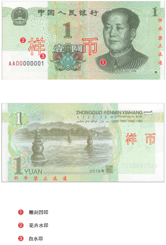 人民币,防伪,特征